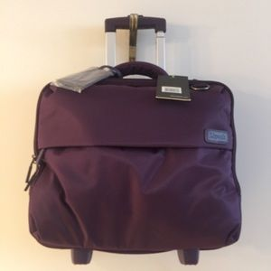 Lipault Rolling Pilot Case with Telescoping Handle